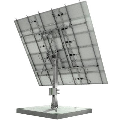 Solar Tracker SM44M3V15P with backstructure for 15 panels (3,75 kWp)