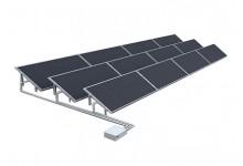 30 kW saulės elektrinė ant horizontalaus stogo