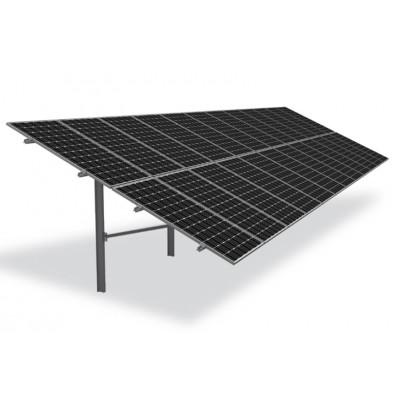 K2 vienos atramos saulės modulių ant žemės montavimo sistema