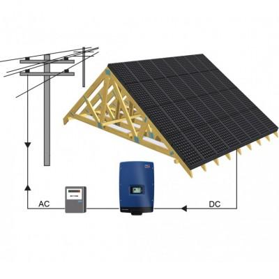 10 kw saulės elektrinė. NEMOKAMAS modulių suintegravimas.