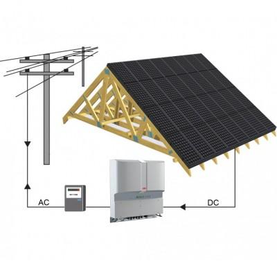 10 kw integruotos saulės elektrinės.