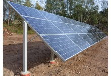Nuosavas saulės elektrinės parkas.