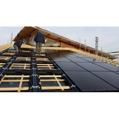 Saulės elektrinė integruota į stogą